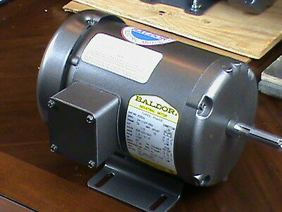 BALDOR Electric Motor M3534 1/3 HP 3 phase 5/8 shaft 1725 rpm NEW