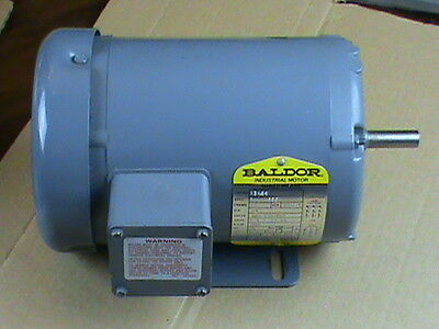 "BALDOR Electric Motor M3454 1/4 HP 3 phase 1/2"" shaft 1725 rpm USED"