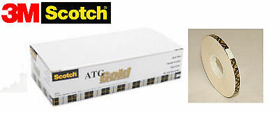 """908 ACID FREE 3M's best ATG GOLD double-sided tape 1/4"""" - 12 rolls"""
