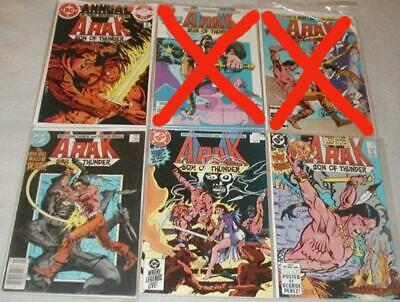 Arak Son of Thunder U-PICK ONE #31,32,37-41,43,44,47,48,50,An.1 PRICED PER COMiC