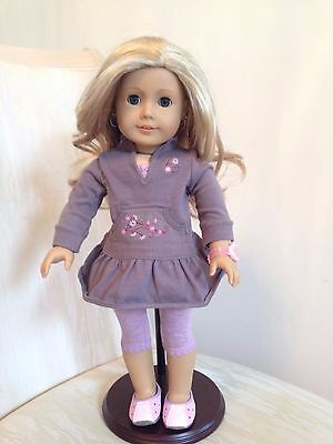 American Girl Just Like You - Doll +Ears Pierced +Watch +Earrings +Extra Outfit