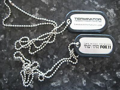 Dog Tags, Terminator (Set) Sarah Connor Chronicles Promo Items