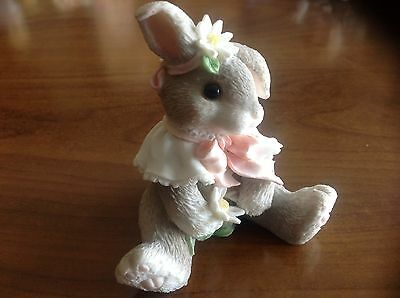"My blushing Bunnies Figurine ""Loves Me Loves Me Not"" NIB"
