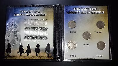 United States - The Last Five Liberty Head Nickels Coin Set
