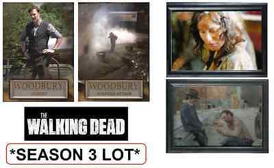 Lot Of 4 - 2014 Cryptozoic The Walking Dead / Season 3 Inserts