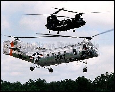 US Army CH-47 Chinook CH-21 Shawnee Cairns Army Airfield 8x10 Photo