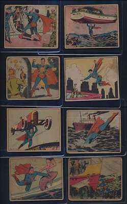 1940 Blony Gum Superman G avg low grade lot of 16 different cards 39443