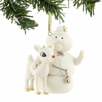 Dept 56 RUDOLPH The RED NOSED REINDEER & SAM The SNOWMAN Christmas Ornament NIB