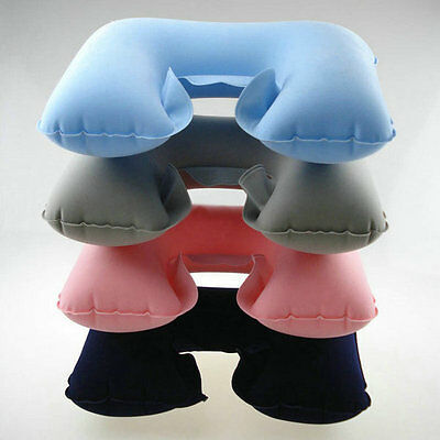 U-Shaped Inflatable Travel Plane Flight Air Cushion Neck Rest Pillow Compact Hot