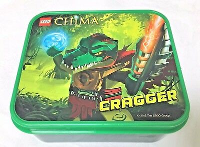 New Lego Legends Of Chima Cragger Plastic Container  _ 5 X 4.5 X 2