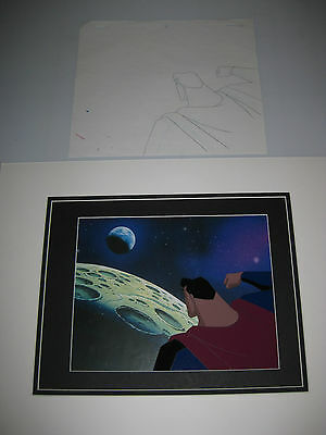 Superman:batman The Animated Series Orig.prod.cel On Laser Background+Pencil