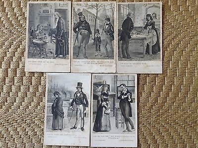 Early ' Charles Dickens ' Series Post Cards. S Hildesheimer. Unused