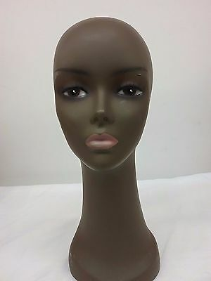 "Realistic 15"" 1/2"" Tall Salon Stylist Student Mannequin Head Display WIG & HATS"