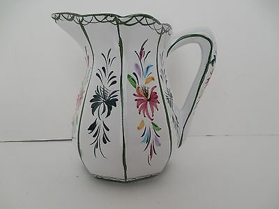 R&C CAL hand painted ceramic pitcher; Portugal