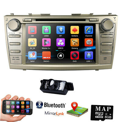 """Toyota Camry 2007-2011 8"""" 2DIN In-Dash Car Stereo DVD Player GPS Bluetooth CAM"""