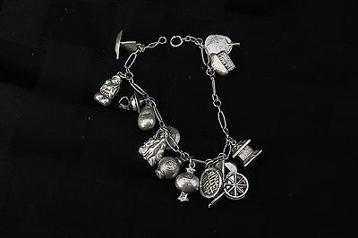 Chinese  Bracelet & Charms Sterling Silver Pure Or Better Old Vintage Bracelet