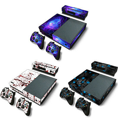 Full Set Decal PVC Sticker Cover Protector  With 2 Controller Skins For XBOX ONE