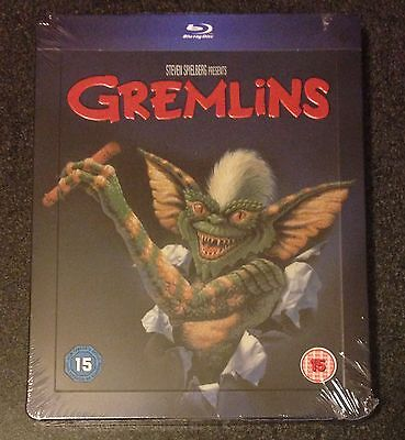 GREMLINS Blu-Ray SteelBook Zavvi UK Exclusive Ltd Ed Region Free. New OOP & Rare