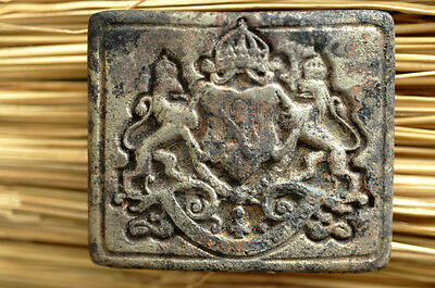 Wwii Bulgarian King Ferdinand Officers`belt Buckle With Royal Coat Of Arms Ww2