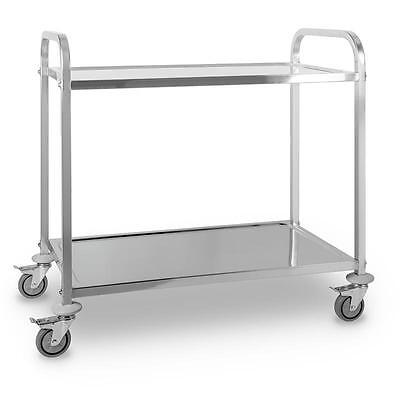 Catering Room Service Trolley 2 Shelf Stainless Steel Kitchen Cafeteria Server