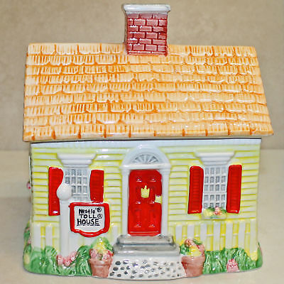 "LE 1992 Nestle Toll House Spring House Ceramic Cookie Jar, 8""""H  no box"