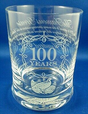 RARE Limited Edition GROUSE WHISKY 100 YEAR ANNIVERSARY Glasses Bar Man Cave Aus