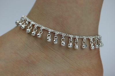 Stunning Bell Anklet Ankle Chain Indian Payal Bollywood Ladies single or Pair