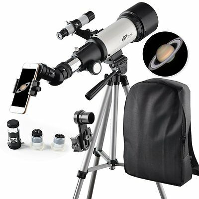 Refractor 70mm Apeture 400mm Az Mount Telescope - Travel Scope with Backpack