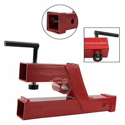 """Clamp On Trailer Receiver Hitch 2"""" for Deere Bobcat tractor bucket"""