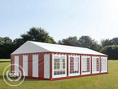 5x10m Heavy Duty PVC Marquee, Steelconstruction, Wedding Party Tent, red-white