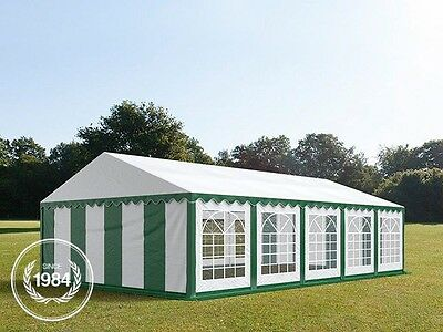 5x10m Heavy Duty PVC Marquee, Steelconstruction, Wedding Party Tent, green-white