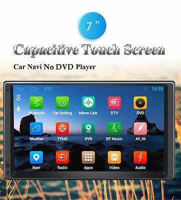 2Din Android 4.4 GPS Navigation WiFi BT 7''HD Car Autoradio Bluetooth RDS Player