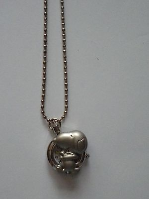 "New Girls/ladies Snoopy Puppy Dog Pendant Necklace Watch On A 26"" Silver Chain"