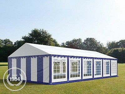 6x12m Heavy Duty PVC Marquee, Steelconstruction, Wedding Party Tent, blue-white