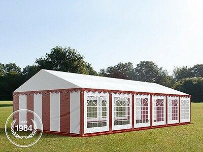 6x12m Heavy Duty PVC Marquee, Steelconstruction, Wedding Party Tent, red-white