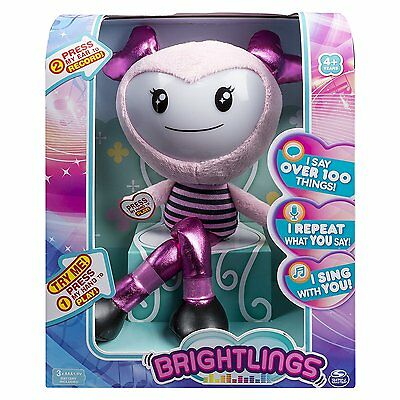 Brightlings, Interactive Singing, Talking 15 Plush, By Spin Master By Plush NEW