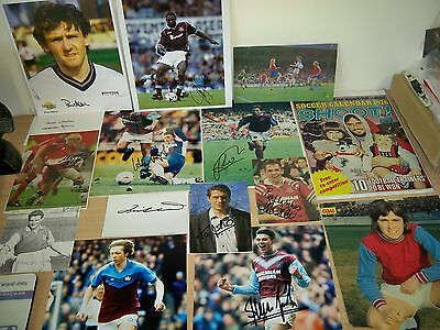West Ham 17 Signed rare photos & images Foe Allison Jones Berkovic Curbishley