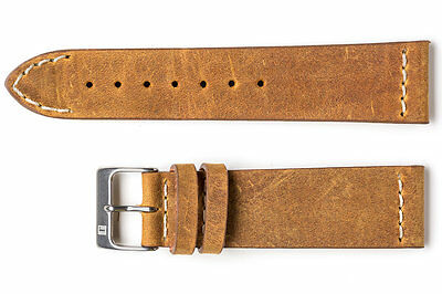 Cinturino pelle vintage small ColaReb SHORT marrone 20mm watch band strap