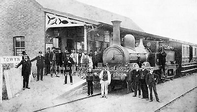 Photo Of A Train At Towyn Station On The Cambrian Railway Wales 1880