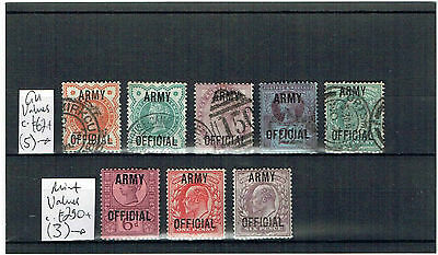#684 GB QV & E7 ARMY OFFICIALS M/U to 6d on card c£353 (8)