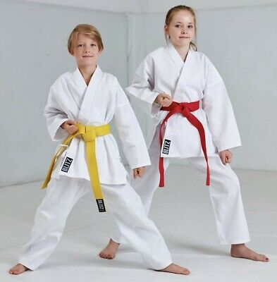 Blitz Childrens Lightweight Karate Suit Gi Free White Belt Kids Uniform