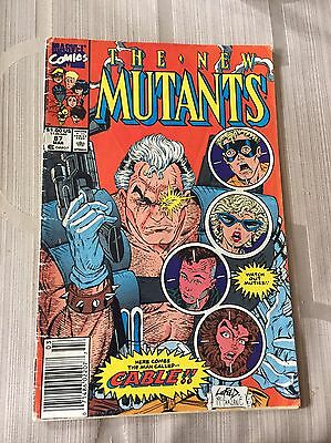 Marvel Comics ~ The New Mutants  # 87 1st Cable Deadpool Movie