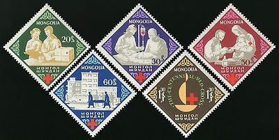 Serie Set Croix rouge Red Cross Neuf MNH ** Mongolie Mongolia 1963
