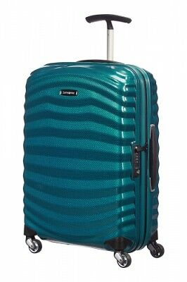 NEW Samsonite Lite-Shock Spinner Light Suitcase, in Petrol Blue - 55cm