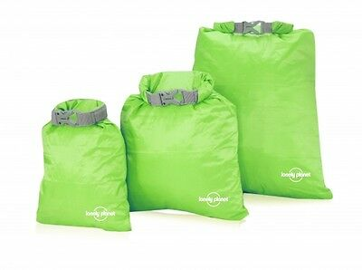 NEW Lonely Planet Spillproof Nylon Bag in Lime, 3 Pack - Travel Accessories