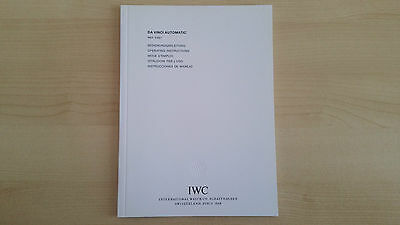 Iwc Da Vinci Automatic Ref. 5461 Operating Instruction Booklet In Mint Condition