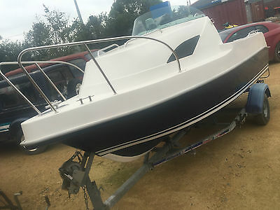 Sport Yacht 4.65 Broads Pike Fishing Day Boat, Trailer & 8HP 4-Stroke Outboard
