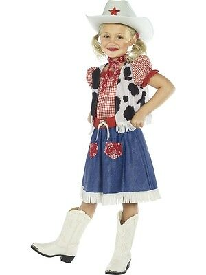 Girls  Cowgirl Sweetie  Fancy Dress Costume 10-12 Yrs Kids Party Outfit Book Day