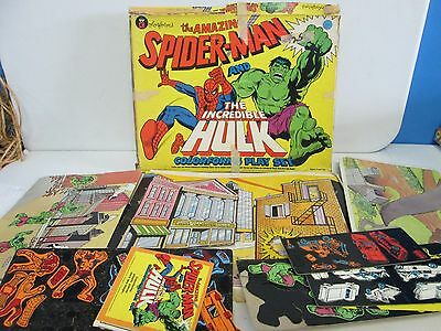 1979 The Amazing Spider-Man & Incredible Hulk Colorforms Play Set