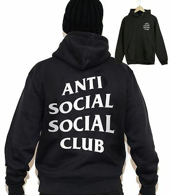 ANTI SOCIAL SOCIAL CLUB Hoodie Super Rare Sold Out EveryWhere Mens Sweat Jumper